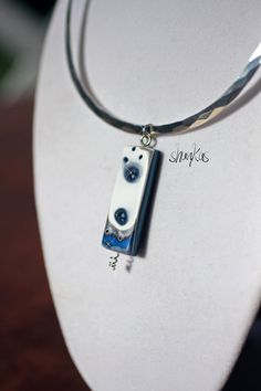 Polymer Clay Pendant  WEARABLE ART by shankas on Etsy, $23.00