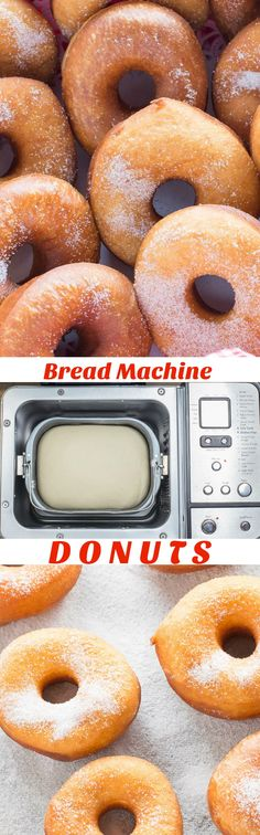 Easy Bread Machine Donuts are light and fluffy just like the ones from your favourite bakery. #donuts #breadmachinedonuts