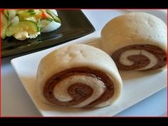 Steamed Chocolate Bread / Cooking Chinese Food 巧克力馒头 (Mantou)
