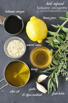 Herb Infused Balsamic Vinaigrette #dressingitup - your homebased mom