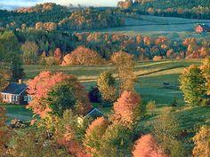 Autumn New England Hills Of Home Northeast Kingdom Vermont