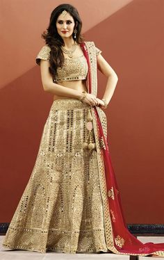 Picture of Mesmerizing Beige Bridal Designer Lehenga Choli