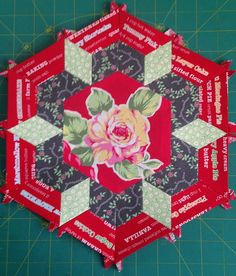 Smitten Quilt.  Pattern by Lucy Carson Kingwell Large Hexagon One B.  SewLux Quilt-Along 2015 https://www.flickr.com/photos/scheri_sews/