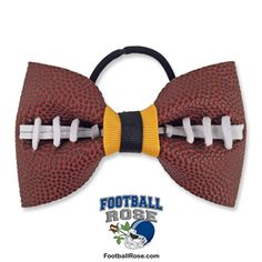 Handmade Football Hair Bow made from real football leather with Navy Blue and Silver ribbon accents Diy Ribbon, Ribbon Hair, Grosgrain Ribbon, Making Hair Bows, Diy Hair Bows, Football Hair Bows, Different Font Styles, Elastic Hair Ties, Gold Ribbons