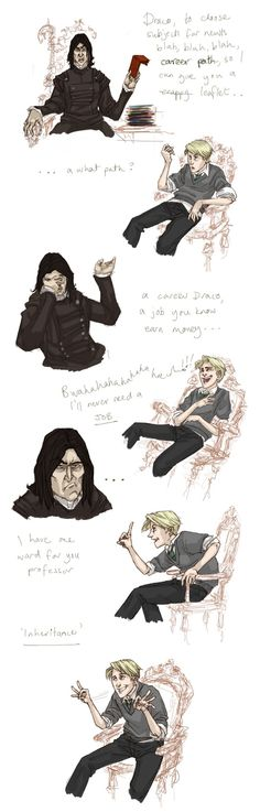 Harry Potter, Snape, Draco, forbis