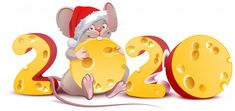 Illustration about 2020 year of mouse to Chinese calendar. Isolated on white vector cartoon illustration. Illustration of holiday, santa, funny - 159986726 Merry Christmas And Happy New Year, Winter Christmas, Vintage Christmas, Christmas Cards, Christmas Cookies, New Year Illustration, Mouse Illustration, Cartoon Illustrations, Happy New Year Wallpaper