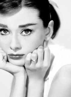 A sulking Audrey Hepburn:: Classic Beauties:: Old Hollywood:: Vintage Actresses