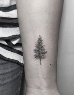 Dotwork tree tattoo by Zeke Yip