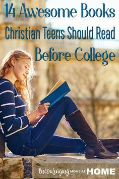 Do you have a high school senior? Here is a list of life changing must reads that every Christian teen should read before they graduate from high school! You are in the right place about High School i High School Books, High School Reading, High School Literature, Homeschool High School, Kids Reading, American Literature, Homeschool Curriculum, Christian High School, College Mom