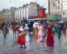 Juan Soler Spanish Impressionist New Realism painter Tutt'Art@ () Spanish Painters, Spanish Artists, Le Moulin Rouge Paris, Pintura Exterior, Prado, Optical Illusions, Impressionist, Parisian, France