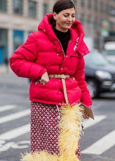 Major inspiration ahead. NYFW Feb2017 Trend spotting: Warm bright Winter parkas