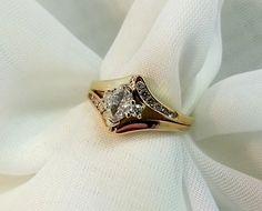 Marquise Diamond Engagement Ring Set 1/2 Carat Total Weight 14 Karat Yellow Gold