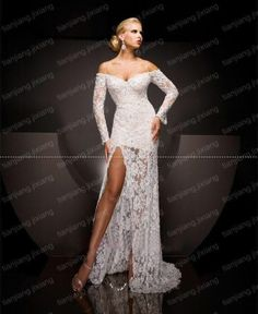 New Lace Formal White Evening Dress Ball Gown Wedding Pageant Dresses 86ec60b21