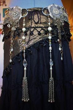 Tribal Beaded Tassels- Kuchi Silver Tassels and Vintage Beads. $55.00, via Etsy.