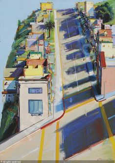 Wayne Theibaud's Ripley Street Ridge sold by Christie's, New York, on Thursday, May 14, 2009