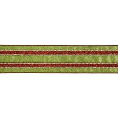 """Ribbon Red and Green Stripe Wired Christmas Craft Ribbon 2.5"""" x 10 Yards ** Check this awesome product by going to the link at the image."""