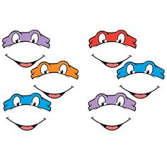 INSTANT  Download -Teenage Mutant Ninja Turtles EYES -for Balloon, Stickers, Lollipop, Favor bags on Etsy, $2.00