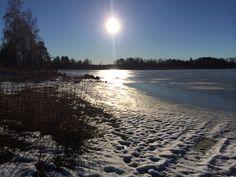 Frozen lake at Ockelbo, Sweden