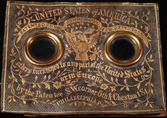 This is apparently the working end of a Stull's stereoscope. Stull's 1/4pl STEREO DAGUERREOTYPE Viewing Device
