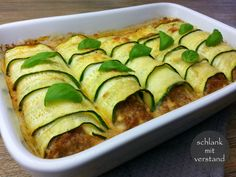 Zucchini Cannelloni low carb – schlank mit verstand