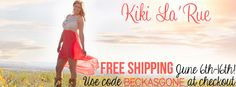 Best online boutique ever!  Free shipping til the 16th, and a chance to win $50 gift cards.  Visit the Mama Laughlin site for more details!