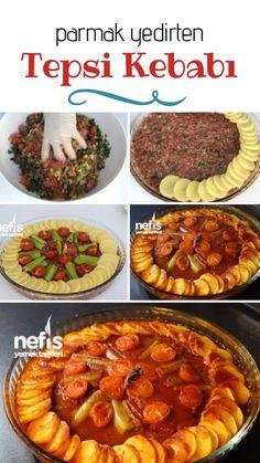 Tray Kebab Recipe, How To - Delicious Recipes - How to Make Tray Kebab Recipe? Illustrated explanation of Tepsi Kebab Recipe in person' - Kebab Recipes, Seafood Recipes, Paleo Recipes, Snack Recipes, Cooking Recipes, Yummy Recipes, Menu Dieta, Food Platters, Turkish Recipes