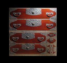 """Ubu Ogi Isho-Dansu (Stacking Clothing Chest) - Keyaki, Kiri & Sugi Wood with Iron Hardware. Ogi, Japan. Meiji Period, Circa 1868-1912. 45-1/4"""" x 17"""" x 45-1/8""""."""