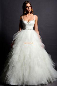 Printemps 2014 Bretelles spaghetti Sans manches Robes de mariée 2014