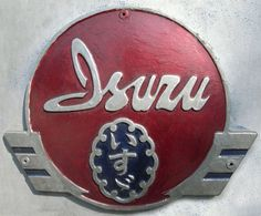 "This is an old emblem that automaker ""Isuzu"" of Japan. Logo Autos, Isuzu Motors, Company Badge, Car Hood Ornaments, Car Signs, Car Badges, Old Logo, Badge Logo, Japanese Cars"