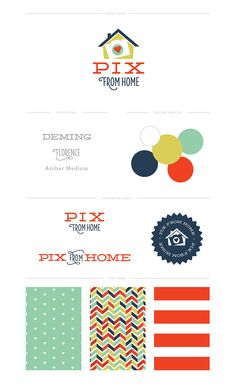 Custom Brand for Pix from Home by Erin Haines Design Co. // www.erinhaines.com