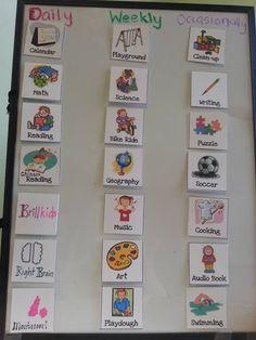 Little Tiger Growing Up: Preschool: Tiger's Daily Rhythm & Homeschool Schedule