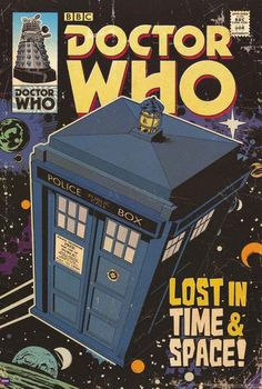 Doctor Who Lost TARDIS BBC Comic Book Cover Art Poster 24x36