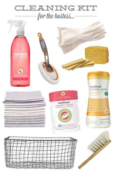 cleaning kit for the hostess | sugar and charm