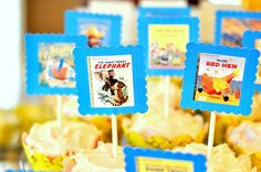 Cupcake Toppers for book themed baby shower