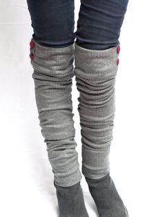 knit military leg warmers par RunSystem63 sur Etsy