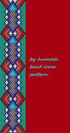 ethnic bead loom pattern by Humosh on Etsy