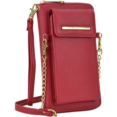 Dasein All-In-One Crossbody Wallet With Phone Case and Detachable Chain Strap (Red), Women's, Black (leather) Cross Body, Mochila Adidas, Mini Crossbody Bag, Shoulder Purse, Handbags Online, Luxury Bags, Wallets For Women, Purse Wallet, Leather Wallet