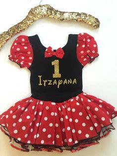 Personalized Minnie Red-Black Polka Dot Dress