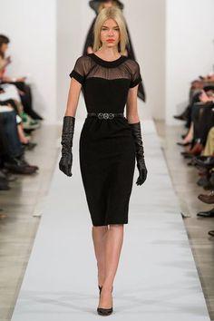 Oscar de la Renta, NY Fashion Week, Fall 2013 #pinup #curves