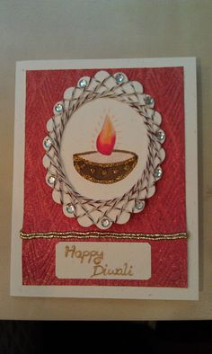 Handmade diwali greeting card ideas with photos diwali diwali card m4hsunfo