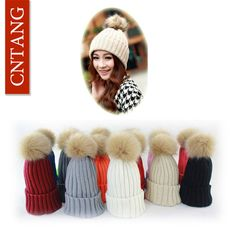 2016 Women Faux Rabbit Fur Hats Fashion Winter Beanies Female Knitted Warm Caps For Women Brand Pompon Hat Crochet Casual Cap  #cute #hair #makeup #styles #beautiful #fashion #model #jennifiers #style #outfitoftheday #beauty #purse #stylish #jewelry #outfit