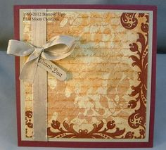 Napkin Transfer Card by Bluemoon - Cards and Paper Crafts at Splitcoaststampers Making Greeting Cards, Greeting Cards Handmade, Napkin Cards, How To Make Greetings, Paper Serviettes, Thanksgiving Wishes, Paper Divas, Napkin Decoupage, Shaped Cards
