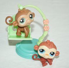 LPS Littlest Pet Shop 2 Monkeys and chair swing