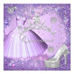 Quinceanera 15th Party Purple Tiara Dress Shoe Custom Invite lowest price for you. In addition you can compare price with another store and read helpful reviews. BuyHow to          	Quinceanera 15th Party Purple Tiara Dress Shoe Custom Invite Online Secure Check out Quick and Easy...