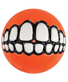 Rogz Grinz Medium Dog Ball Treat Toy, Orange ** Additional details at the pin image, click it : Dog Toys Bouncy Ball, Dog Feeder, Dog Items, Dog Activities, Smiling Dogs, Dog Harness, Dog Supplies, Pet Accessories, Dog Treats