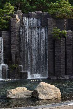 September 25 2016 Anyang Art Park Artificial Waterfall Water