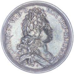 AR Medaille 1716 Med.: Vestner. Av: auf die Geburt Erzherzog Leopolds, Rv: blühende Aloe