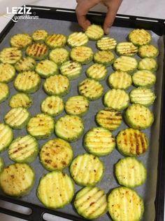 Kızartma Tadında Fırında Kabak - Leziz Yemeklerim Sprouts, Zucchini, Summer Squash, Cucumber, Zucchini Plants