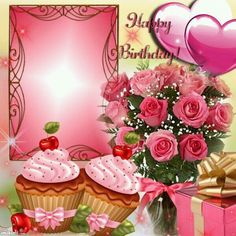 Kimi template created by Happy Birthday Qoutes, Happy Birthday Rose, Happy Birthday Greetings Friends, Happy Birthday Wishes Photos, Birthday Wishes Flowers, Happy Birthday Celebration, Birthday Roses, Birthday Blessings, Happy Birthday Cards