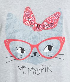 T-shirt imprimé chat - MYOPIC - GRIS - Etam